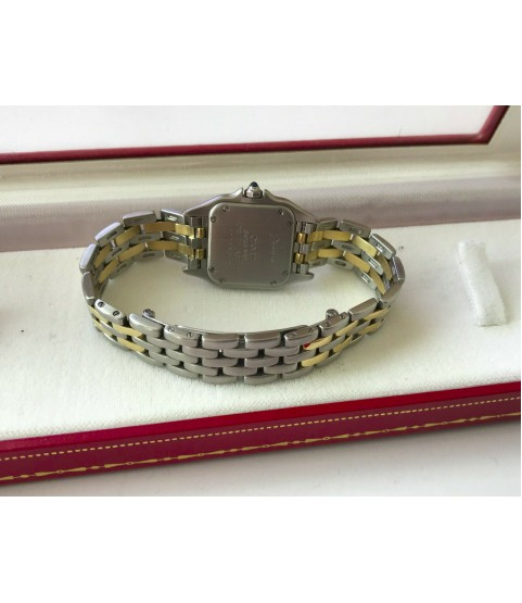 Cartier Panthere 112000 ladies watch 18k gold and steel quartz 21mm