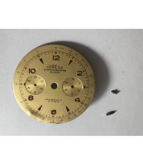 Landeron 48 Coresa chronographe suisse watch dial 34 mm part