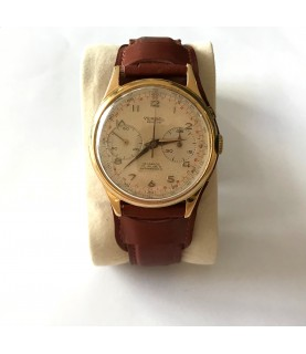 Vintage Verbel Geneve chronograph men's watch oversized 39mm