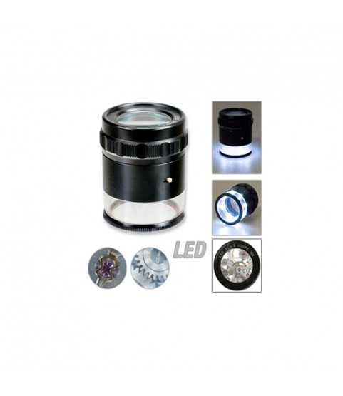 Measure and control loupe LED light x10 3 double lenses precision magnifier for watchmakers