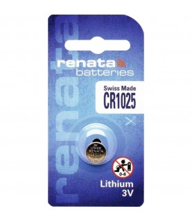 1 x Renata 1025 Swiss Made Lithium Coin Cell Battery