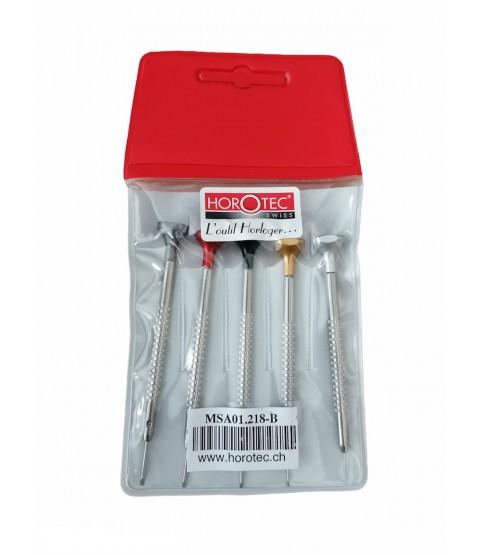 Horotec MSA 01.218-B assortment of 5 watchmaker screwdrivers 0.60 to 1.40 mm