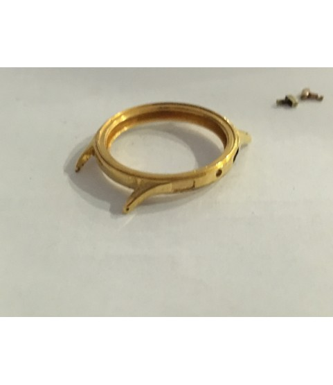 Vintage Gold Plated Case for Landeron 48 watch after restoration 37 mm