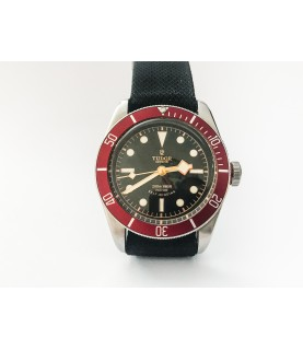 Tudor Heritage Black Bay 79220R steel diver red watch 41mm