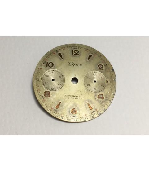 Landeron 54 Edox dial for chronograph watch 31 mm