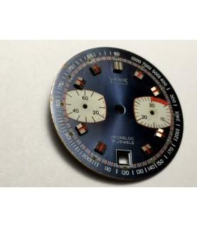 Valjoux 7734 Yanik dial for chronograph watch