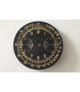 Used chronograph black dial - Venus, Landeron, Valjoux 30.5 mm