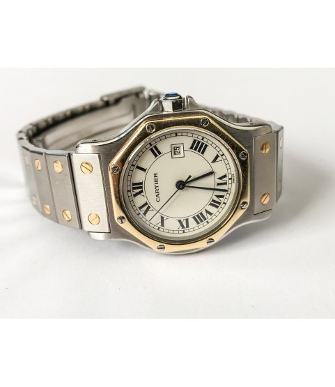 Cartier Santos Automatic Lady Watch Stainless steel and 18k gold 31mm