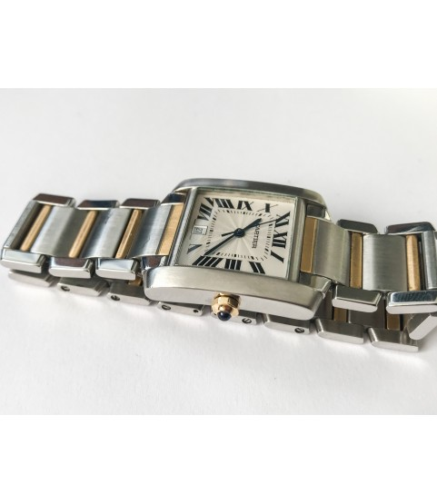 Cartier Tank Automatic Unisex Watch 2302 stainless steel and 18k gold