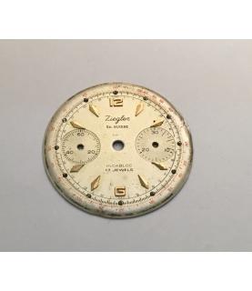 Valjoux 23 Ziegler (Junghans) chronograph dial part