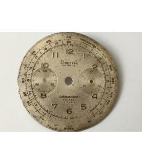Landeron 51 Dreffa Geneve Chronograph dial part 33 mm