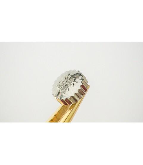 Patek Philippe 18k white gold crown 6.02mm x 2.39mm
