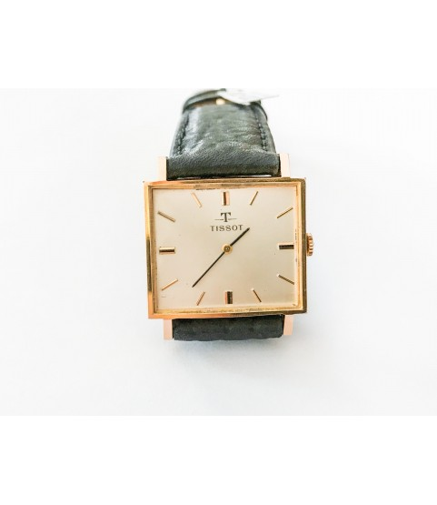 Vintage Tissot square gold plated watch manual-winding movement