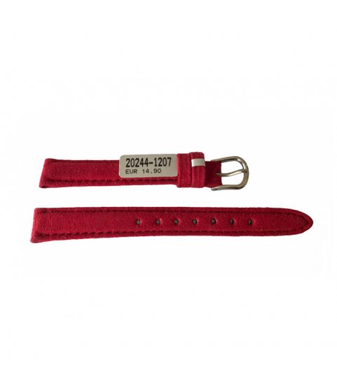 Amaretta red leather strap from Nubuck for women's watches 12 mm