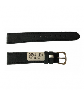 Amaretta Black Leather Strap From Nubuck For Ladies Watches 14mm