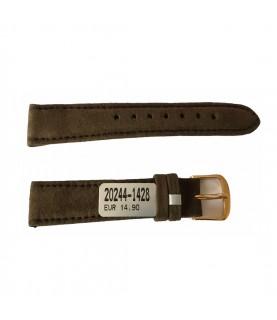 Amaretta brown leather strap for ladies watches 14mm