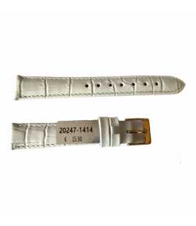 Louisiana Croco White Leather Strap For Ladies Watches 14mm
