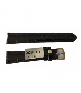 Louisiana Croco Black Leather Strap For Ladies Watches 14mm
