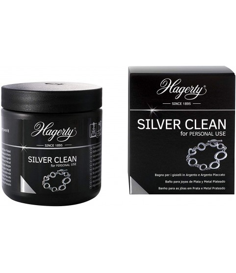 Hagerty - Silver Clean - Immersion Cleaner for Silver and Silver Jewellery - 170 ml - in just 2 Minutes it Cleans and restores