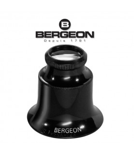 Bergeon 1458-A-12 watchmakers double lens eyeglass loupe x12 magnification