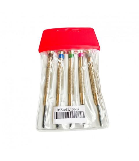 Horotec MSA 01.400-B set of 5 cross special screwdrivers