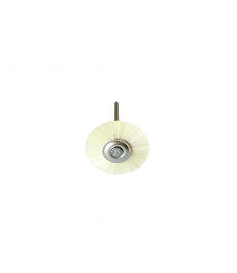Round Miniature Hard polishing Brushes, Mounted bristles 21mm