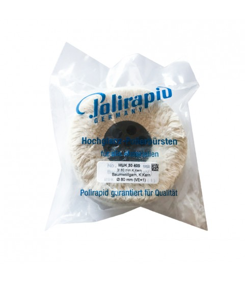Polirapid Cotton Wheel is of Extra-Soft Cotton for polishing All Materials 80x25mm