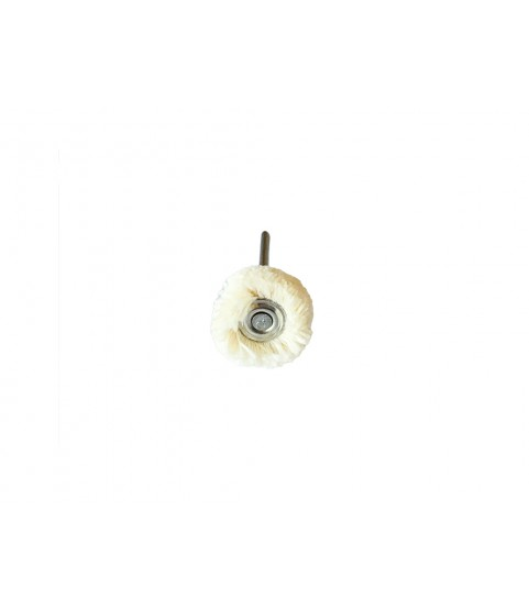 Round Cotton Soft Miniature polisning Brushes, Mounted 21mm