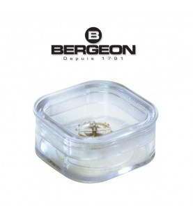 Bergeon 6799-1 elastic membrane box for watch parts 39 x 39 x 17.8mm