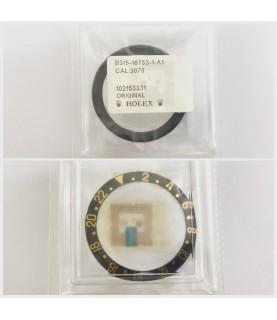 New Rolex GMT 16753 watch bezel insert black and gold 315-16753-1-A1