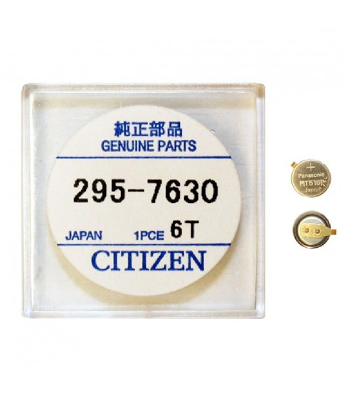 Citizen 295-763 (295-7630) MT516F capacitor battery for Eco-Drive watches