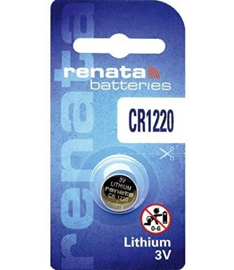 Renata #CR1220 Lithium Coin Battery