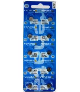 Renata Watch Battery #377 SR626SW 1.55v Silver Oxide 10 Pack!