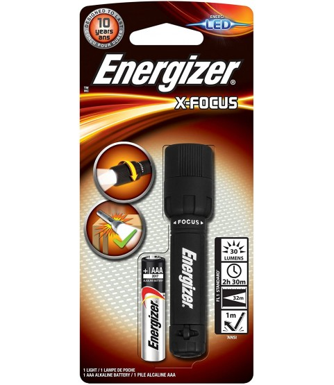 Energizer X Focus Torch with a 1 x AAA battery included