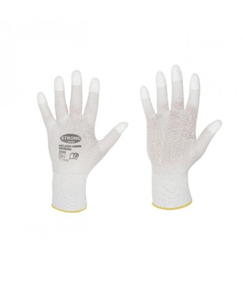Work gloves with PU fingertips for goldsmiths and watchmakers for polishing S
