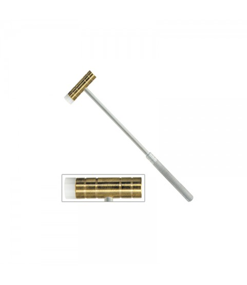 Watchmakers and goldsmiths combinated hammer in nylon and brass