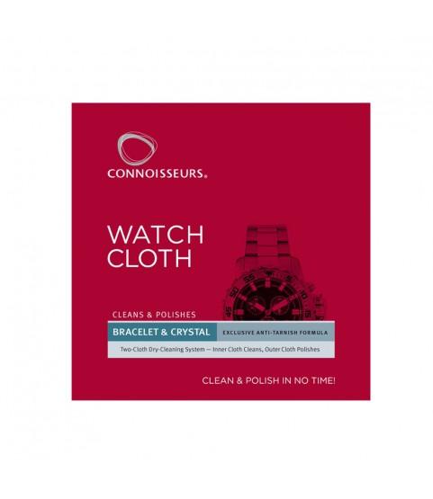 Connoisseurs Watch Cleaning Polishing Anti Tarnish Cloth CONN784