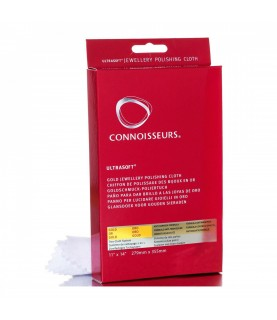 Connoisseurs Gold Jewellery Cleaning Cloth Ultrasoft Polishing Cloths to Clean, Buff & Restore Shine CONN738