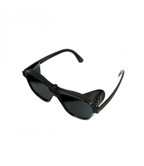 Protective goggles for work dark green glasses with fixed side shields