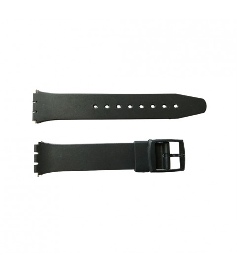 Swatch special rubber strap smooth with plastic clasp 17mm