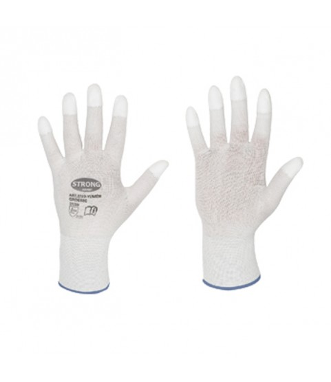 Work gloves with PU fingertips for goldsmiths and watchmakers for polishing L