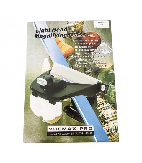 Bergeon 7826 binocular magnifier with adjustable visor 1.0x 1.5x 2.0x 2.5x 3.5x