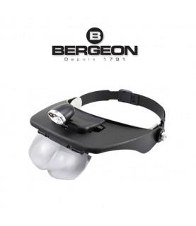 Bergeon 7826 binocular magnifier with adjustable visor 1.0x 1.5x 2.0x 2.5x 3.5x