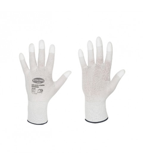 Work gloves with PU fingertips for goldsmiths and watchmakers for polishing M