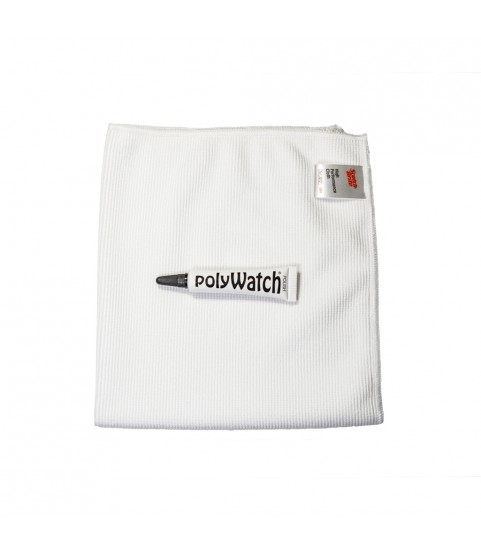 PolyWatch Plastic Watch Crystal Scratch Remover Polish with Scotch-Brite High Performance Wipe