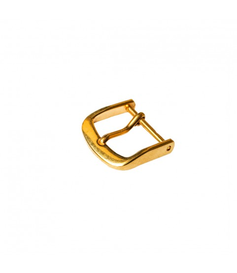 Yellow gold plated buckle for leather strap closure chrono unisex gold spring bar 14mm