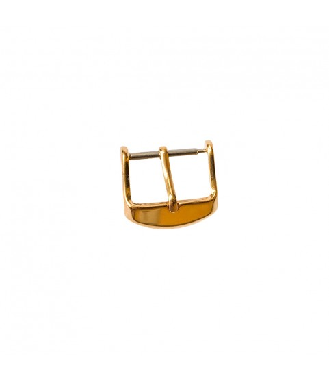 Yellow gold plated buckle for leather strap closure chrono unisex 18mm