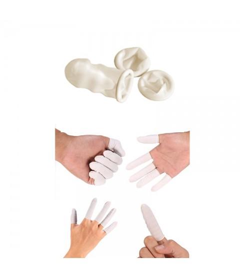 Natural latex rubber finger cots watchmaker Size XL 100 pcs