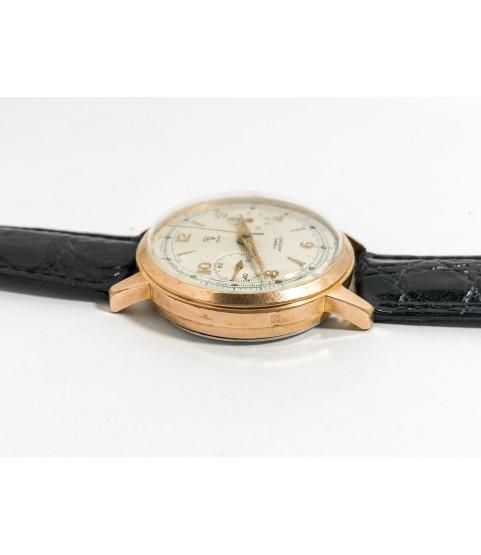 Vintage Yema Chronograph Men's Watch Valjoux 92 1950s