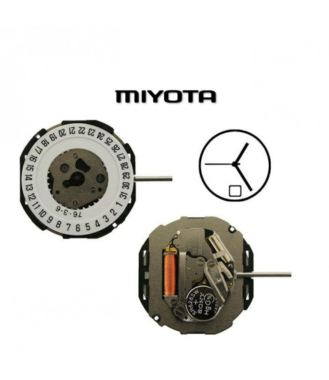 Miyota 2115 SC-D(6) Quartz Movement with winding stem and battery